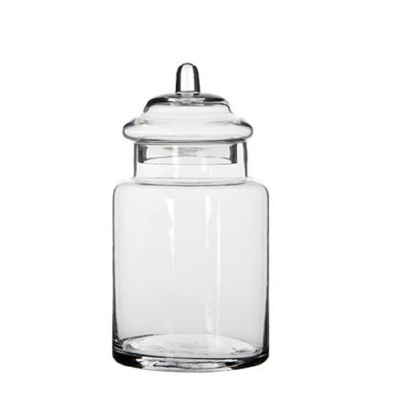 Glazen snoeppot-opslag pot met deksel 22 x 13 cm