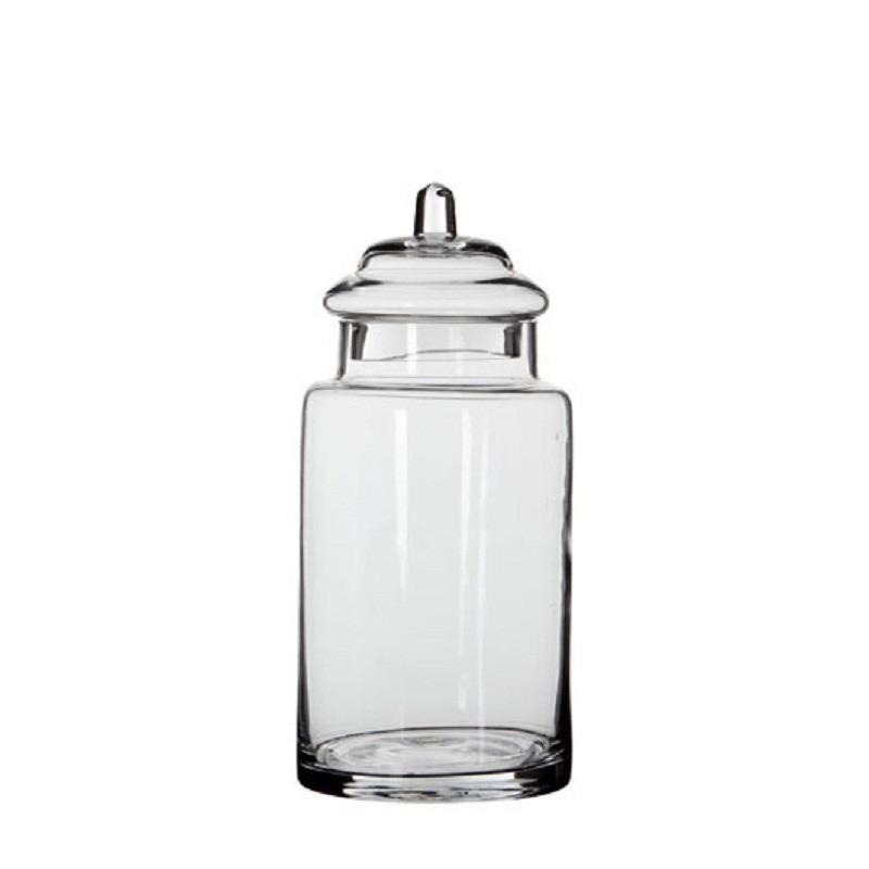Glazen snoeppot-opslag pot met deksel 28 x 13 cm
