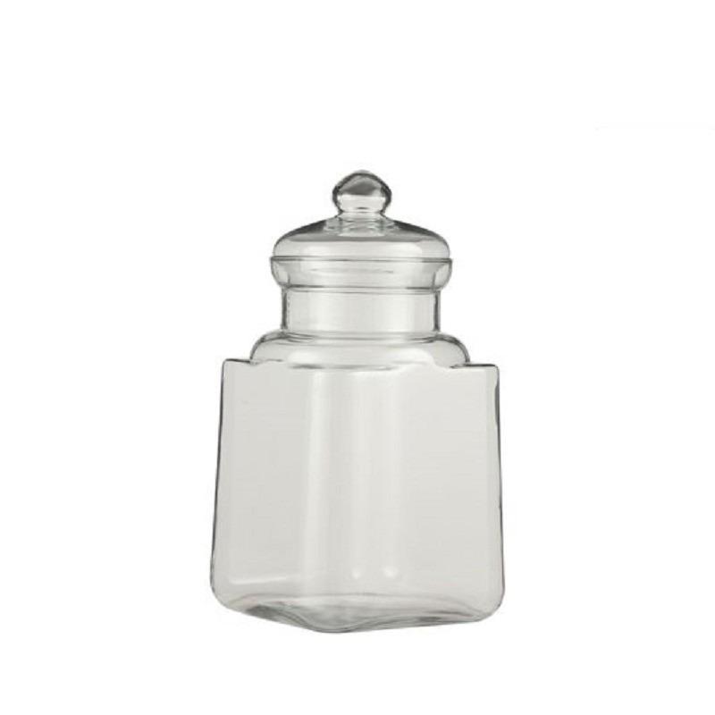 Glazen snoeppot-opslag pot met deksel 29 x 19 cm