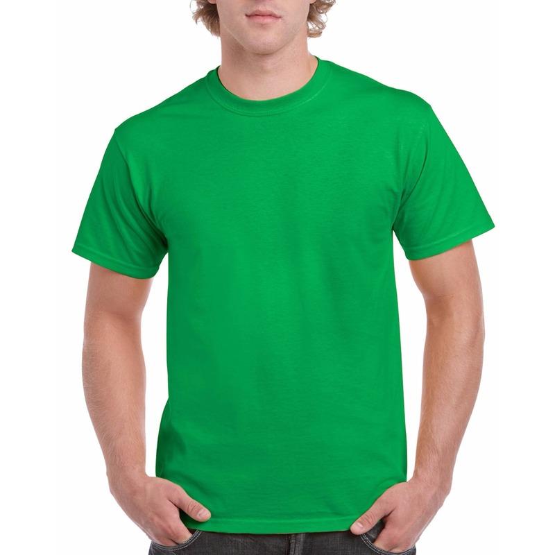 Goedkope gekleurde shirts Ierland groen voor volwassenen