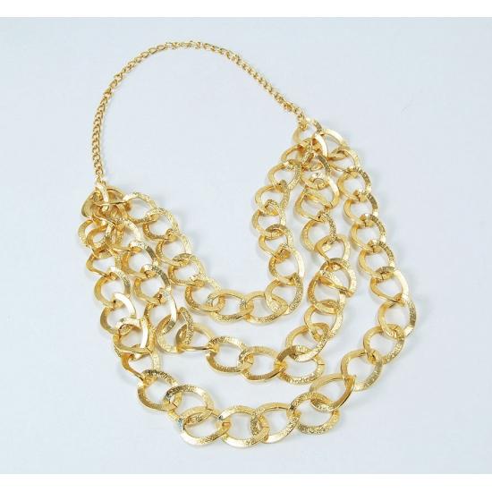 1cc2a5be43b Mr. bling gouden ketting. deze gouden ketting bestaat uit een driedubbele  laag gouden ringetjes