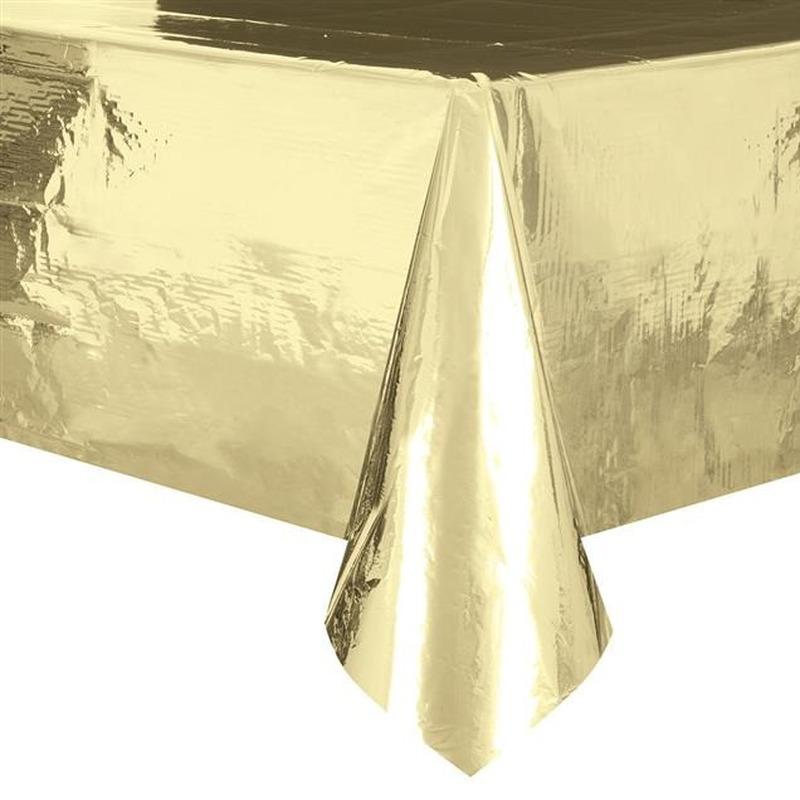 Gouden tafelkleed-tafellaken 137 x 274 cm folie