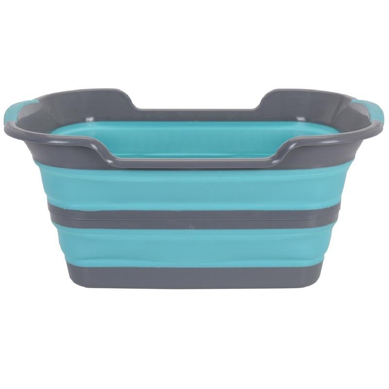 Grijs-blauwe mand voor wasgoed 60 cm