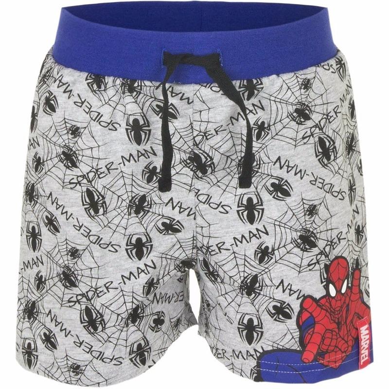 Grijze korte broek Spiderman