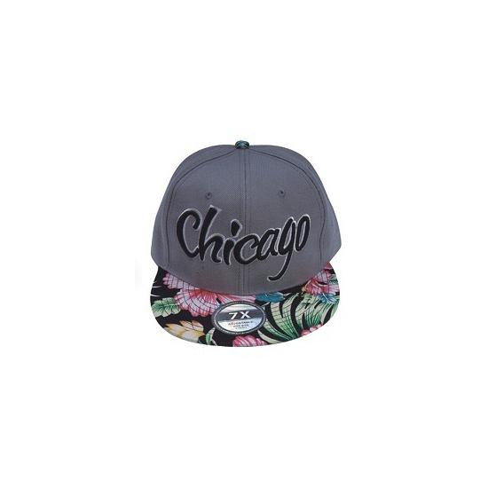 Grijze pet/cap met klep Chicago