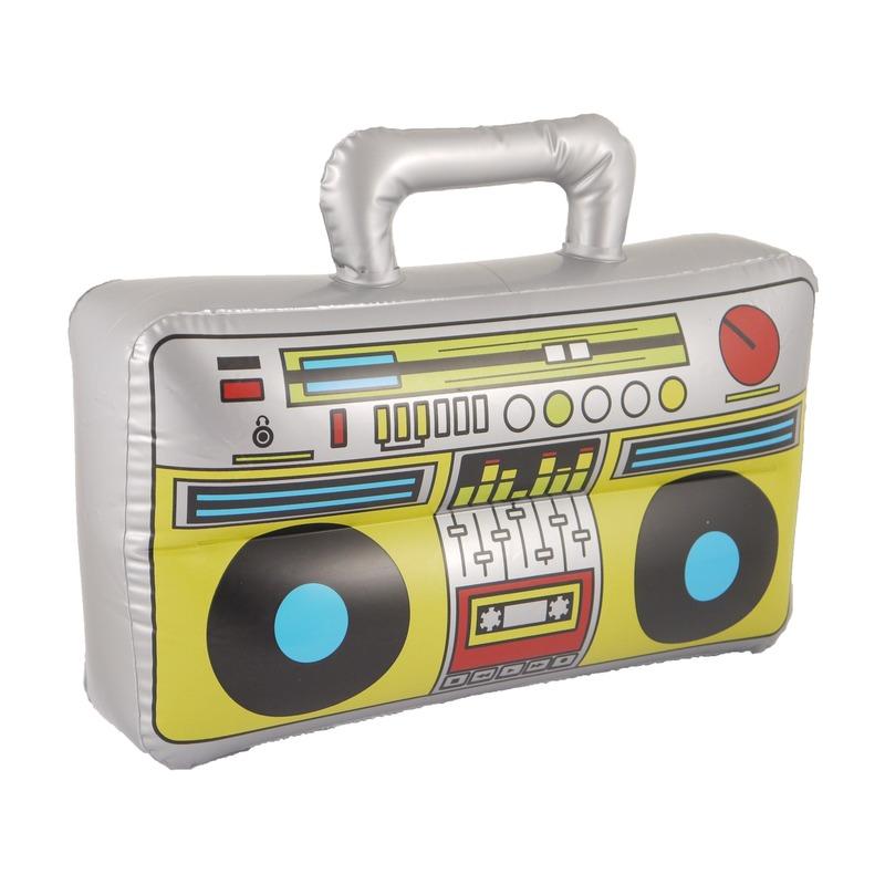 Grijze radio opblaasbaar 40 cm