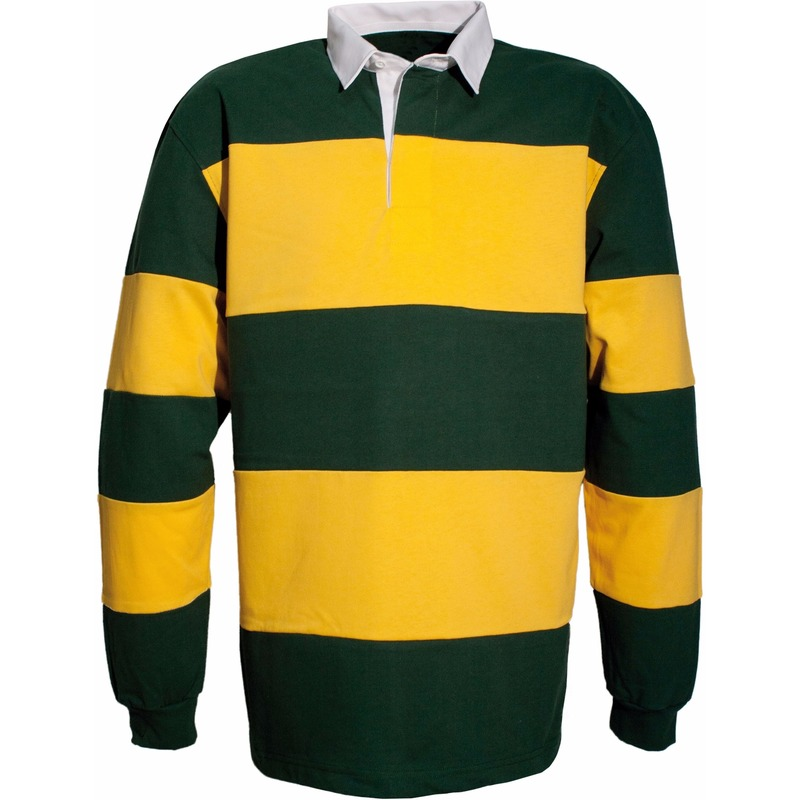 Groen/gele rugbyshirts