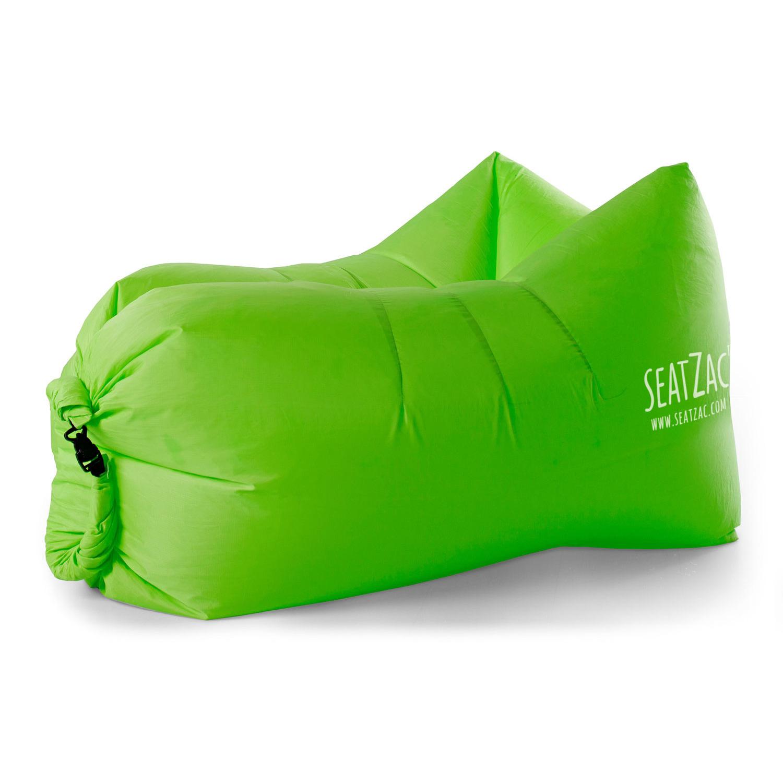 Grote handige zitzak stoel in het groen 130 x 53 x 70 cm