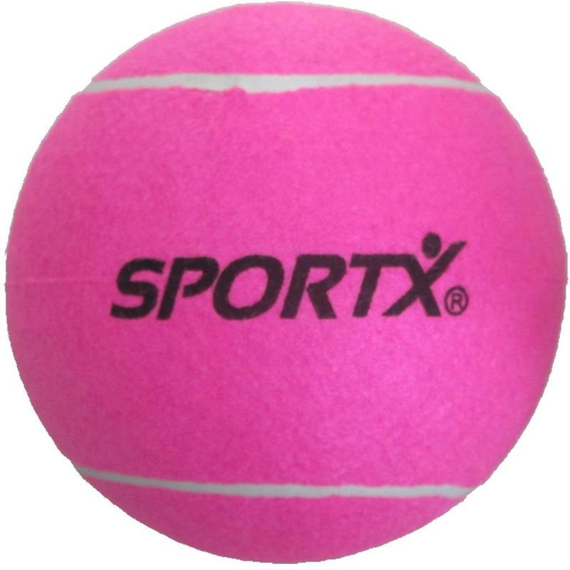 Grote roze tennisbal SportX 22 cm