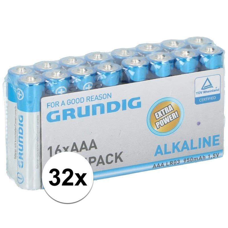Grundig LR03 AAA batterijen 32 stuks