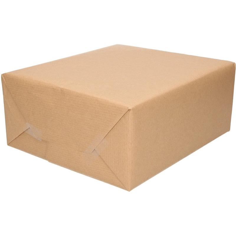 Inpakpapier-cadeaupapier kraft bruin rol 500 x 70 cm
