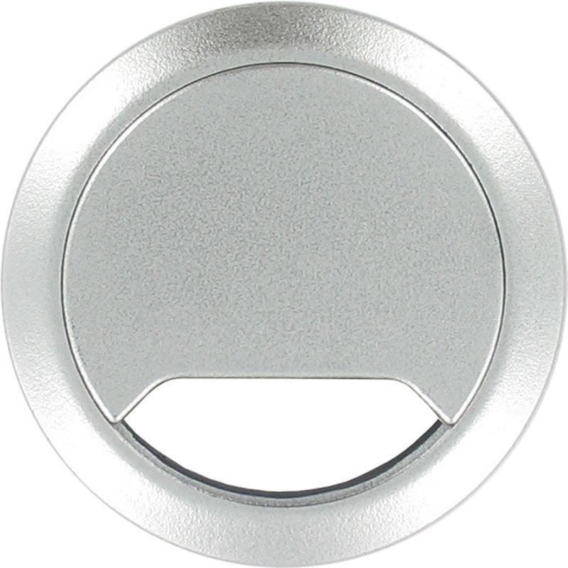 Kabeldoorvoer aluminium zilver 80 mm