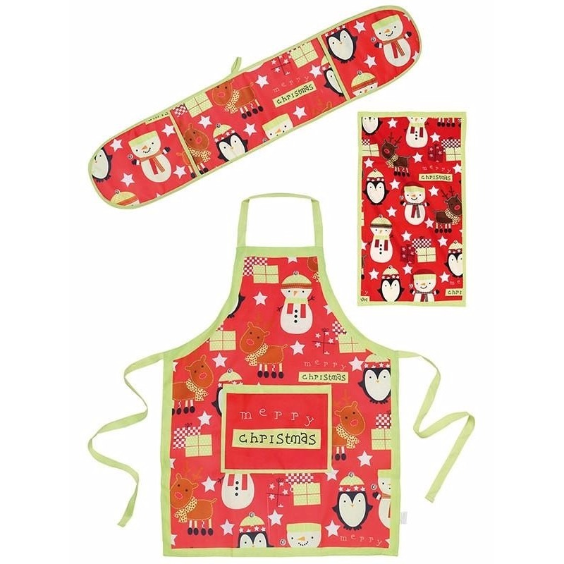 Kadoset keuken textiel Christmas 3-delig