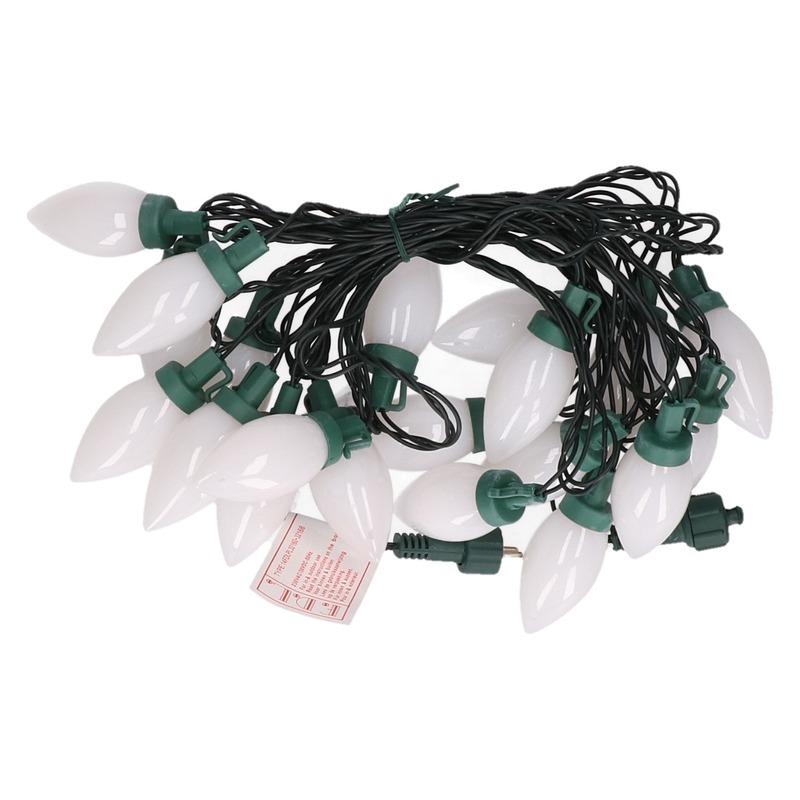 Kerst decoratie LED verlichting snoer met warm witte kaarsjes lampjes 500 cm voor buiten