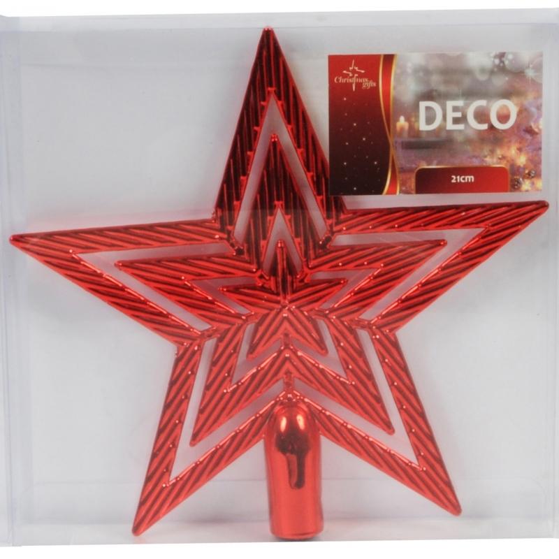 Kerst piek rode 21 cm
