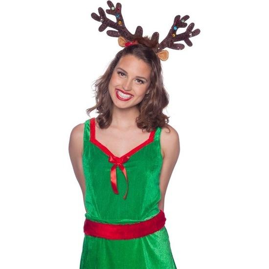 Kerst rendier gewei tiara-diadeem met LED lichtjes