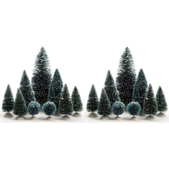 Kerstdorp bomen 18 stuks