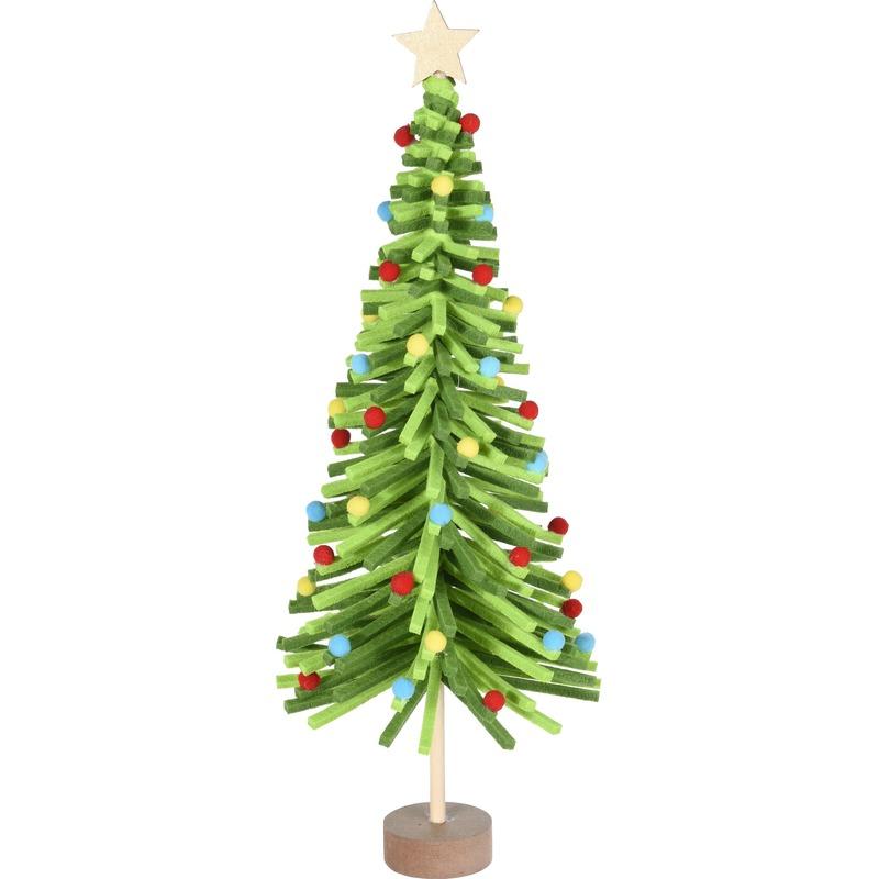 Kerstversiering groene mini kunst kerstboom 45 cm met versiering