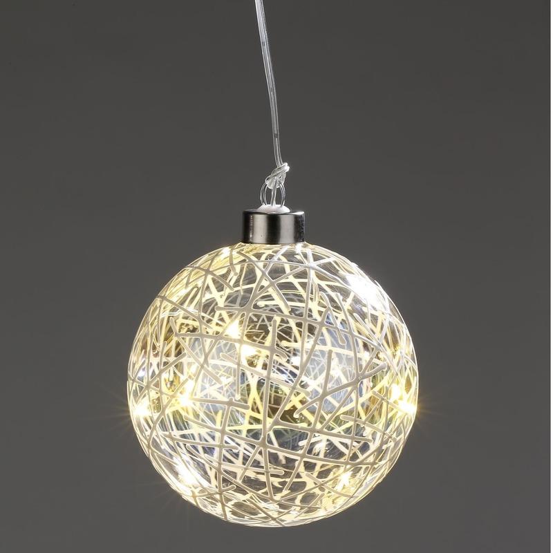 Kerstversiering verlichting lichtsnoer LED in deco fitting 10 cm
