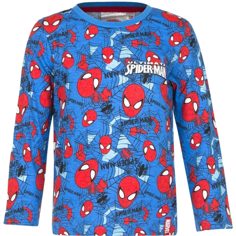 Kindershirt Spiderman blauw