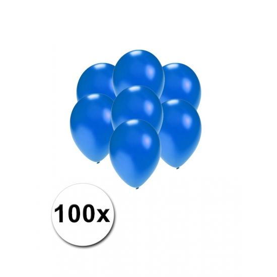 Kleine blauw metallic ballonnetjes 100 stuks