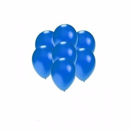 Kleine blauw metallic ballonnetjes 200 stuks