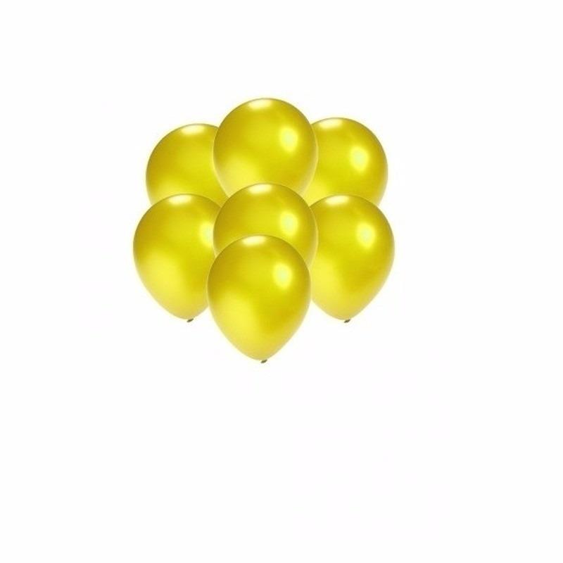 Kleine geel metallic ballonnetjes 200 stuks