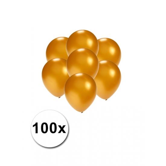 Kleine goud metallic ballonnetjes 100 stuks