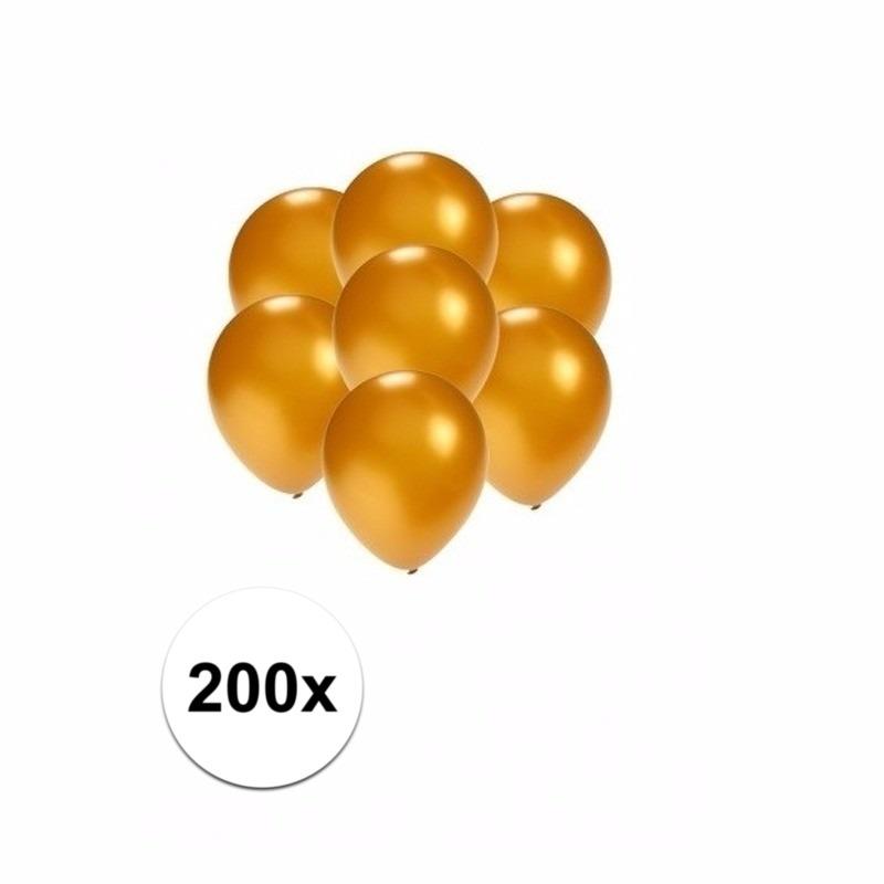 Kleine goud metallic ballonnetjes 200 stuks