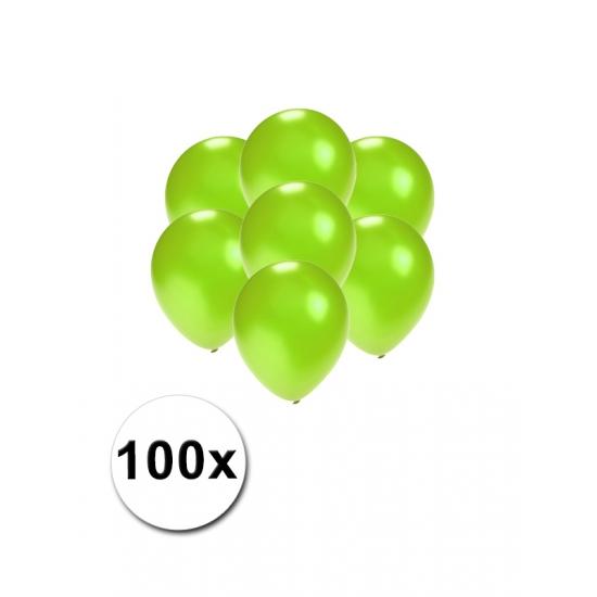 Kleine groen metallic ballonnetjes 100 stuks