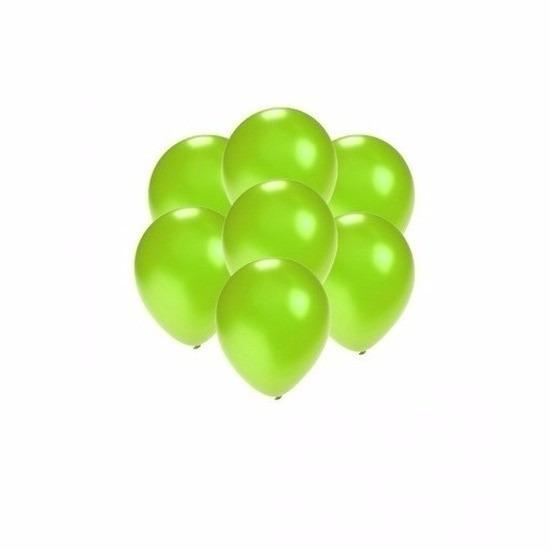 Kleine groen metallic ballonnetjes 200 stuks