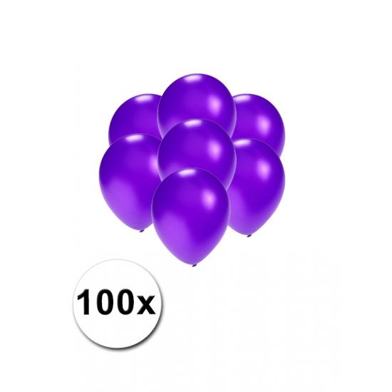 Kleine paars metallic ballonnetjes 100 stuks
