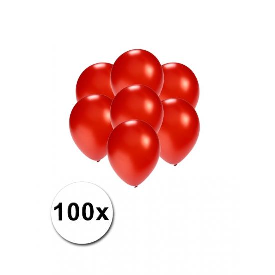 Kleine rood metallic ballonnetjes 100 stuks
