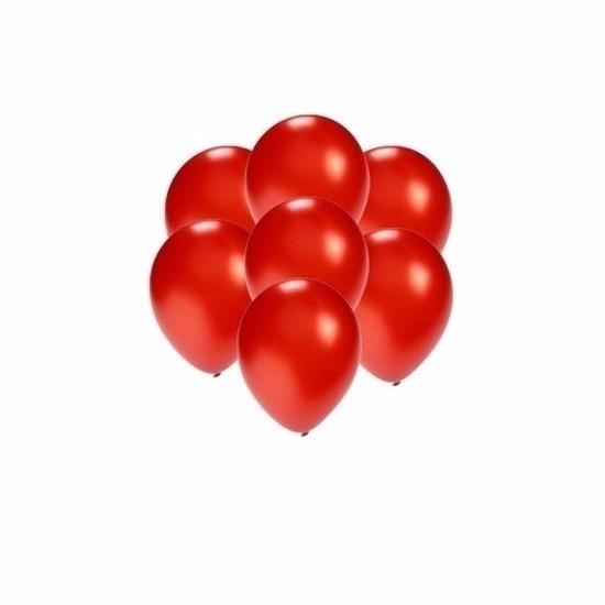 Kleine rood metallic ballonnetjes 200 stuks