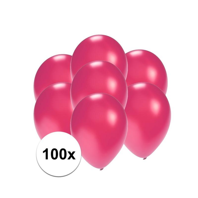 Kleine roze metallic ballonnetjes 100 stuks
