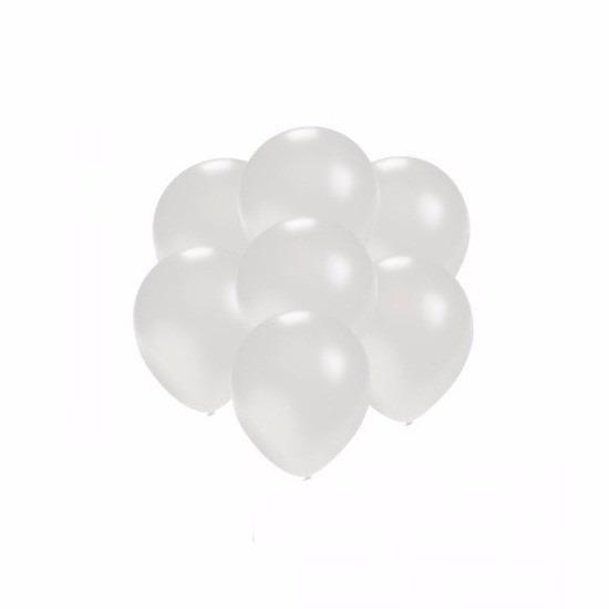 Kleine wit metallic ballonnetjes 200 stuks