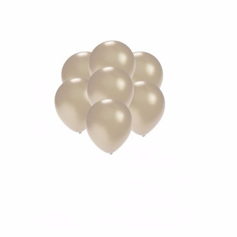 Kleine zilver metallic ballonnetjes 200 stuks