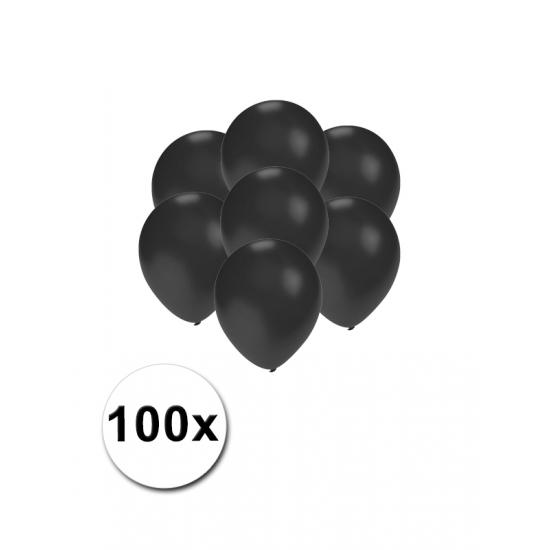 Kleine zwart metallic ballonnetjes 100 stuks