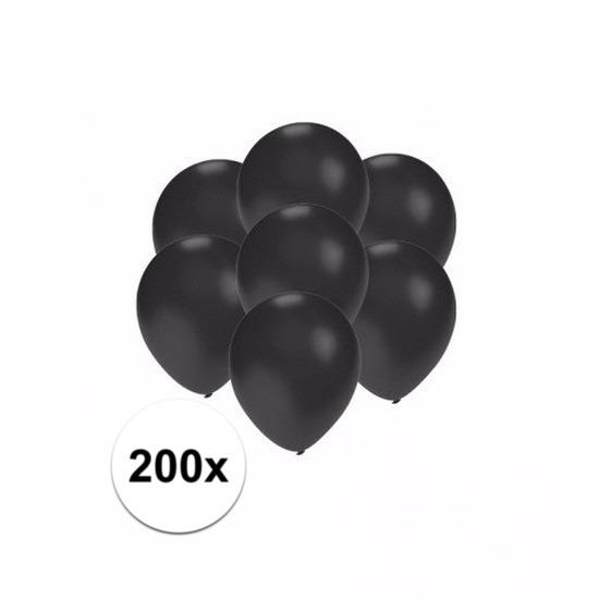 Kleine zwart metallic ballonnetjes 200 stuks