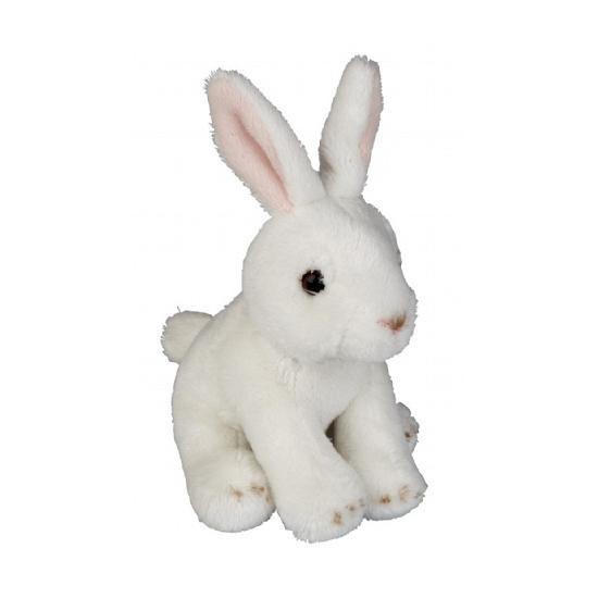 Knuffel konijn wit 15 cm