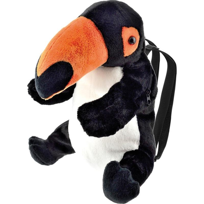 Knuffel rugzakje/rugtasje toekan vogels 32 cm knuffels kopen