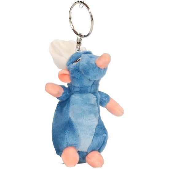 Knuffel sleutelhanger Disney Remy Ratatouille muisje blauw 10 cm knuffels kopen