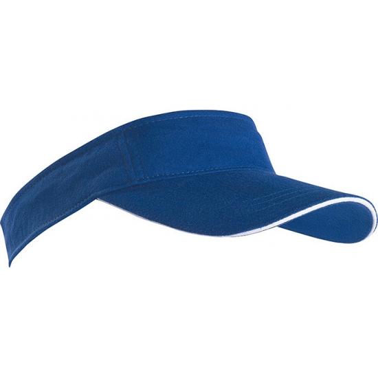 Kobalt blauwe zonneklep