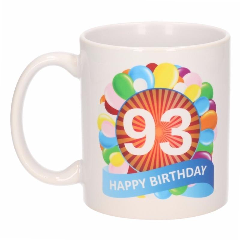 Koffiemok ballon thema 93 jaar 300 ml