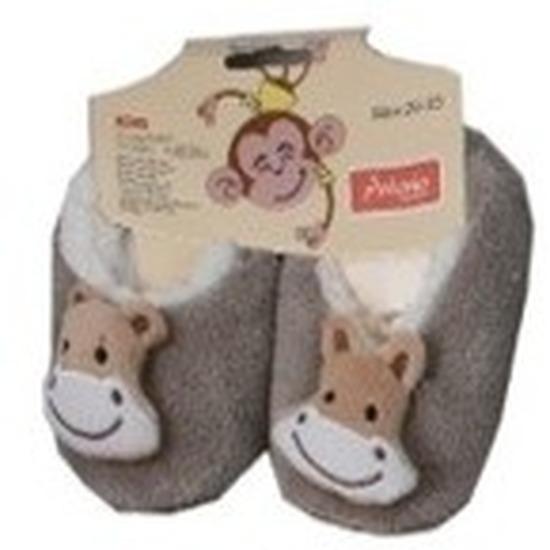 Kraamcadeau kinderslofjes/pantoffels aap