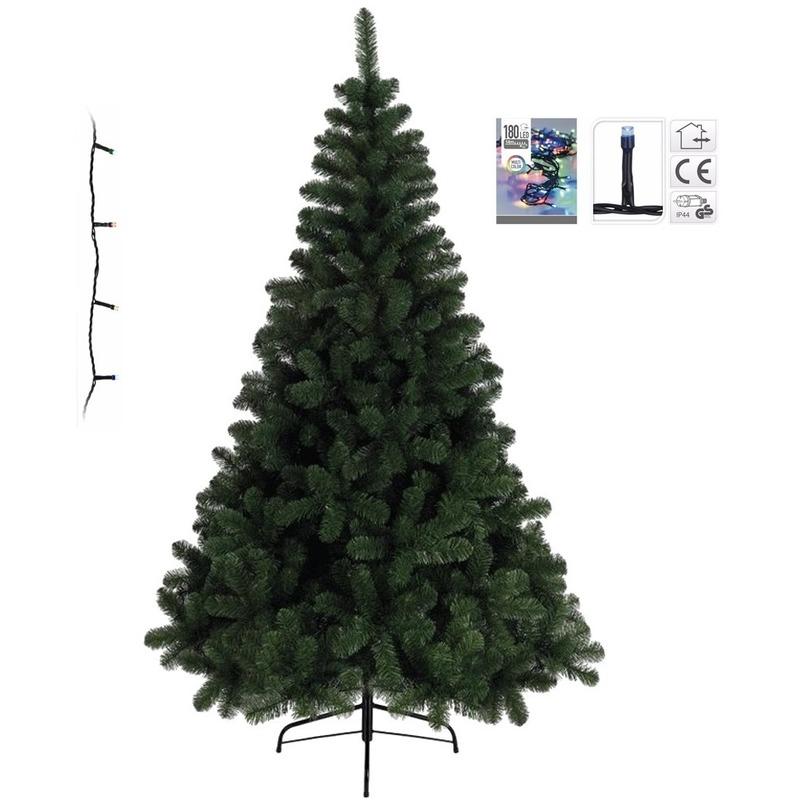 Kunst kerstboom 120 cm incl. gekleurde lampjes