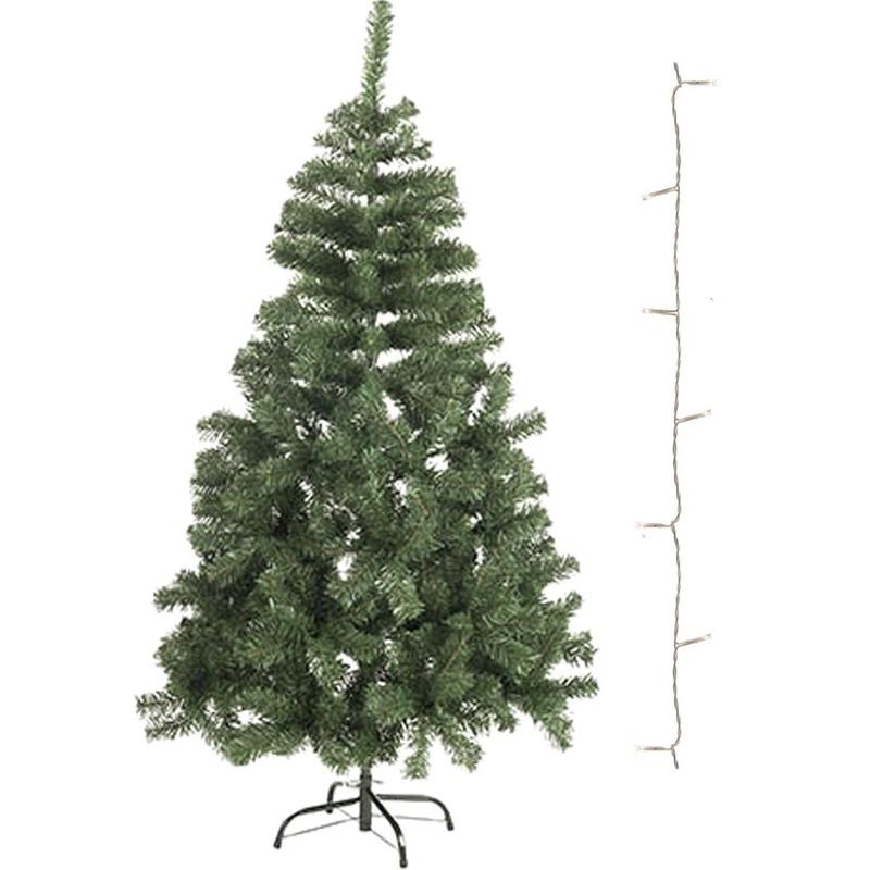 Kunst kerstboompje 60 cm incl. helder witte lampjes