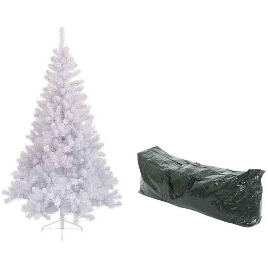 Kunstbomen Imperial Pine in het wit 180 cm met opbergzak