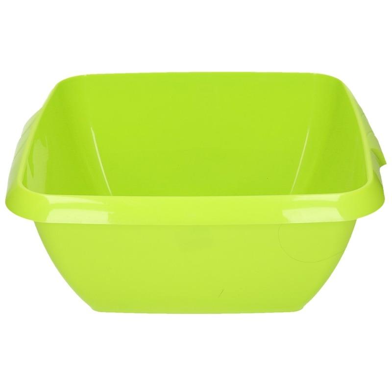 Kunststof afwasteil groen 11 liter
