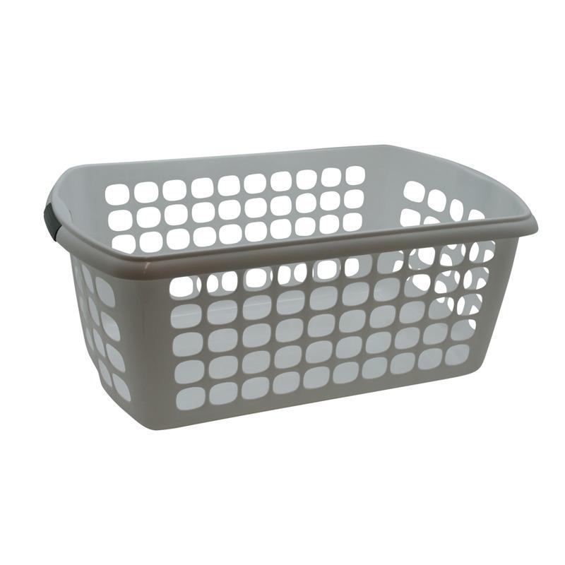 Kunststof wasmand-waskrat wit 59 cm